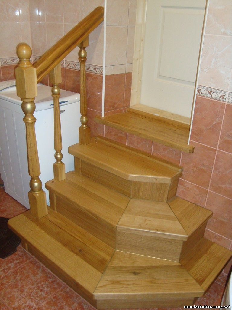 Лестница с сегментными ступенями